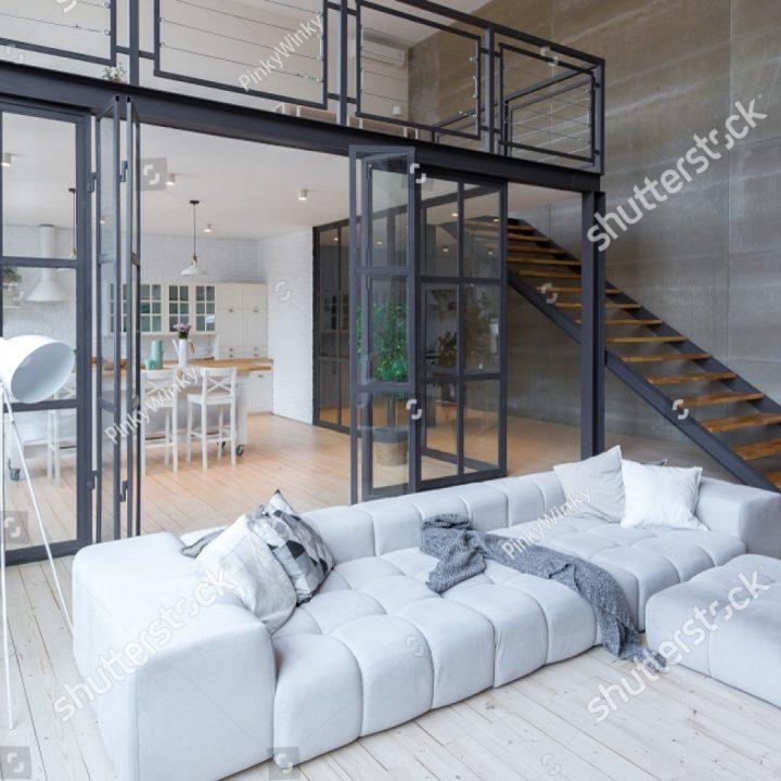 Metalo aliuminio-stiklo pertvaros ir durys